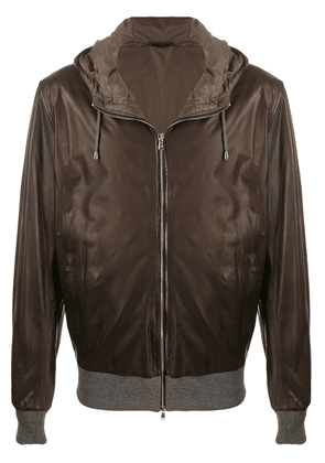 Barba leather bomber jacket - Brown