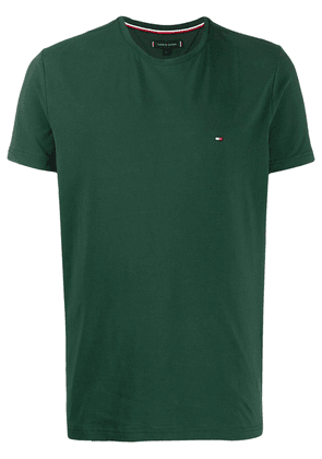 Tommy Hilfiger flag embroidery slim-fit T-shirt - Green