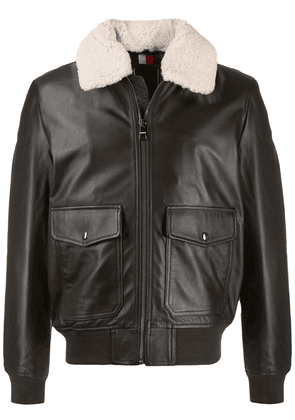 Tommy Hilfiger shearling collar jacket - Brown