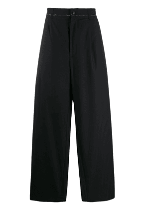 Camiel Fortgens high-waisted wide leg trousers - Black