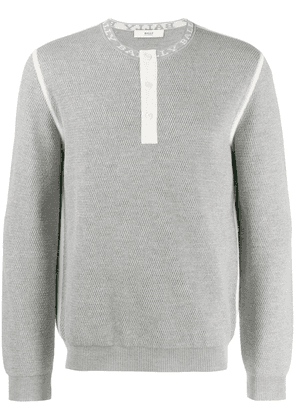 Bally textured knit sweater - Grey
