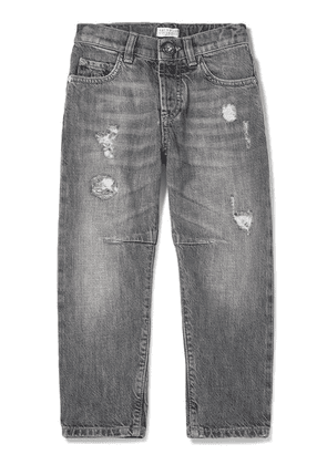 Brunello Cucinelli Kids - Ages 4 - 6 Distressed Denim Jeans