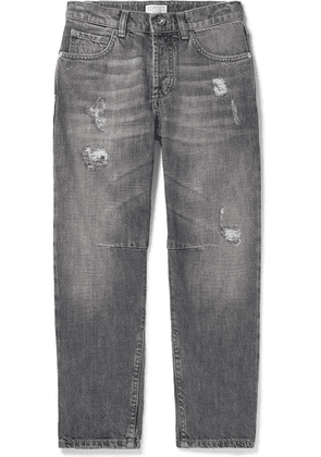 Brunello Cucinelli Kids - Ages 8 - 10 Distressed Denim Jeans
