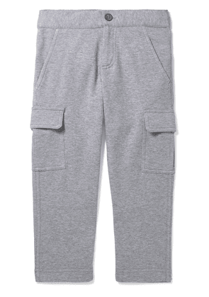 Brunello Cucinelli Kids - Ages 4 - 6 Mélange Cotton-blend Jersey Track Pants
