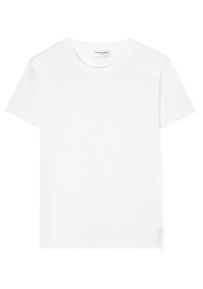 SAINT LAURENT - Essentials Appliquéd Cotton-jersey T-shirt - White