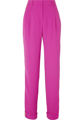 Esteban Cortázar - Striped Crepe Straight-leg Pants - Pink