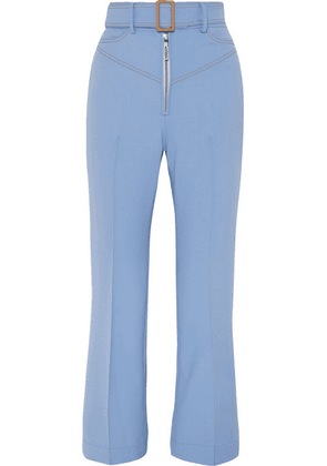 Ellery - Supervision Free Belted Cropped Flared Pants - Blue