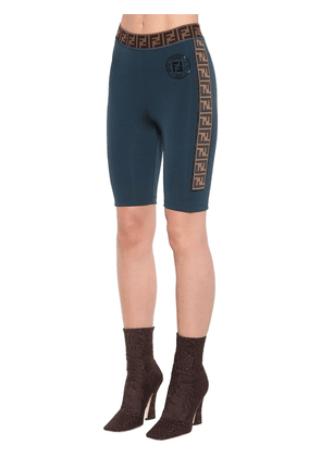 Lycra Cycling Shorts W/logo Bands