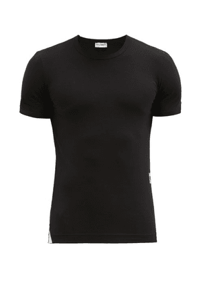 Dolce & Gabbana - Logo Print Cotton Blend T Shirt - Mens - Black