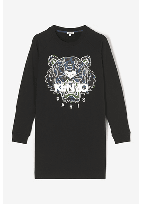 KENZO Tiger x Floral Leaf Sweatshirt Dress