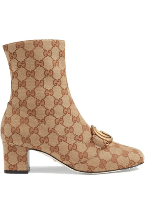 Gucci GG ankle boot with Double G - Neutrals
