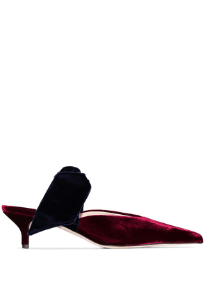 Gia Couture Bandana Girl 55mm velvet mules - Red