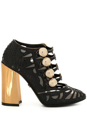 Dolce & Gabbana chunky-heel sheer-panels pumps - Black