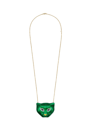 Gucci Gold and silver cat head minaudière - Green