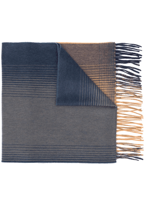 Begg & Co striped cashmere scarf - Blue