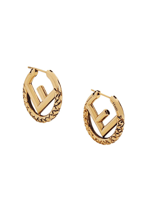 Fendi F Is Fendi small hoop earrings - GOLD
