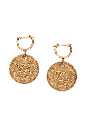 Fendi Karligraphy earrings - GOLD