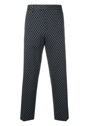 Gucci all-over logo print trousers - Blue