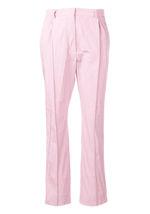 Valentino pleated cropped trousers - Pink