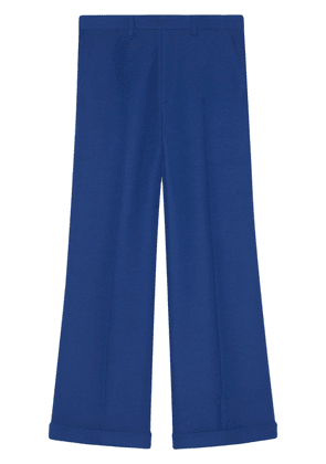 Gucci Wool-silk ankle length pant - Blue