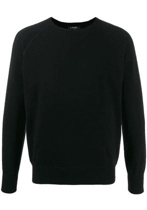 Barba cashmere knit jumper - Black
