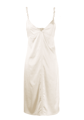 Bottega Veneta satin slip dress - Neutrals