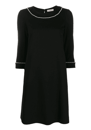 Twin-Set pearl detail shift dress - Black