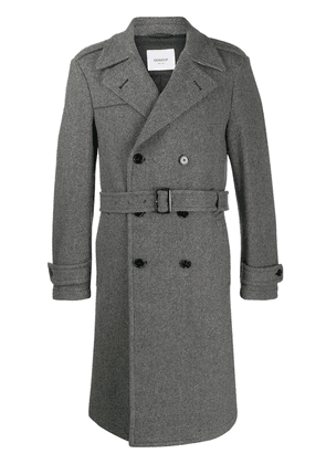 Dondup striped trench coat - Grey