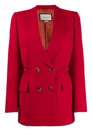 Gucci elasticated waist double-breasted blazer - Red