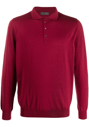 Drumohr long-sleeved polo shirt - Red