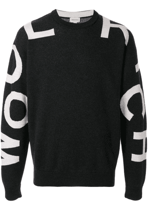 Woolrich logo embroidered sweater - Black