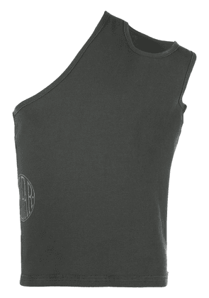 Telfar ribbed asymmetric tank top - Grey