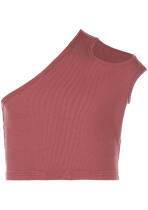 Telfar ribbed asymmetric tank top - Red
