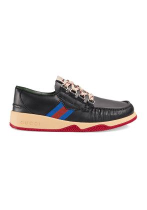 Leather lace-up shoe with Web