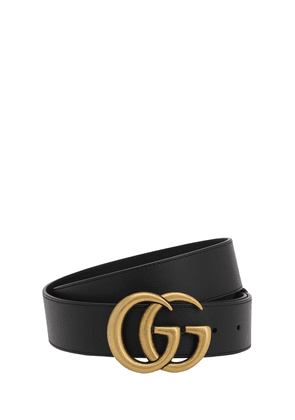 40mm Gg Gold Buckle Leather Belt