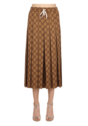 Gg Supreme Pleated Jersey Skirt