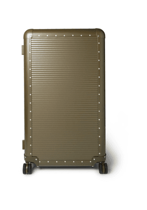 Fabbrica Pelletterie Milano - + Nick Wooster Bank Spinner 84cm Aluminium Suitcase - Green