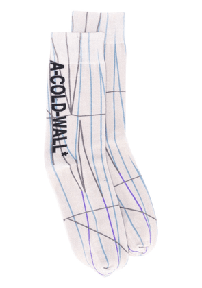 A-Cold-Wall* graphic-print ankle socks - Neutrals