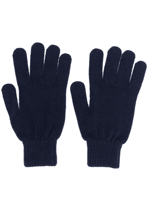 Paul Smith knitted fitted gloves - Blue