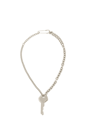 Ader Error key chain necklace - Silver