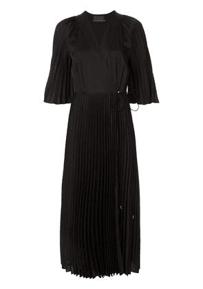 Ginger & Smart Provincial sunray-pleated dress - Black