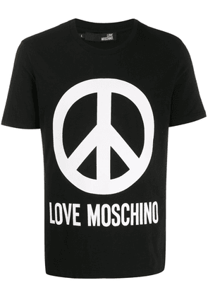 Love Moschino peace sign T-shirt - Black
