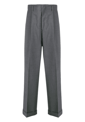 Gucci carrot-leg tailored trousers - Grey