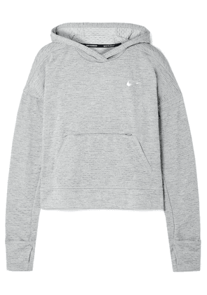 Nike - Element Striped Dri-fit Hoodie - Gray