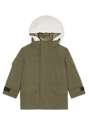 Yves Salomon Kids - Ages 4 - 6 Hooded Layered Cotton-blend Twill And Shearling Parka