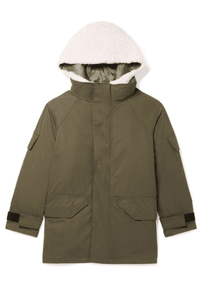Yves Salomon Kids - Age 8 - 10 Hooded Layered Cotton-blend Twill And Shearling Parka
