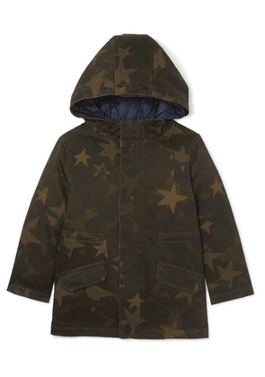 Yves Salomon Kids - Ages 4 - 6 Layered Cotton-blend And Quilted Shell Down Parka