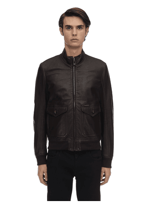 Hughes Leather Bomber Jacket