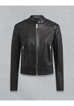 Belstaff Belhaven Leather Jacket Black UK 8 /