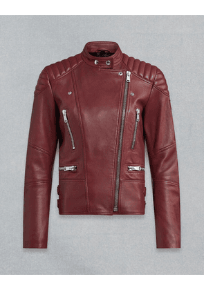 Belstaff SIDNEY 3.0 LEATHER JACKET Red UK 6 /
